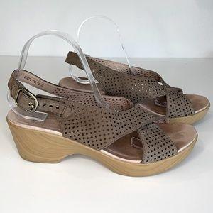 Dansko Jacinda slingback Nubuck leather sandal 42